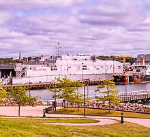 Docked At Ft. Trumbull by JoeGeraci