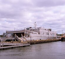 Docked At Ft. Trumbull 2 by JoeGeraci