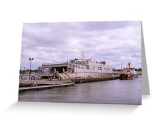 Docked At Ft. Trumbull 2 Greeting Card