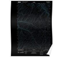 USGS Topo Map Oregon Ring 20110811 TM Inverted Poster