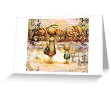 Beachcombers Sunrise Greeting Card