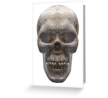 Diamond Skull isolated on white background, Milan ITALY Greeting Card