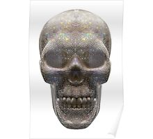 Diamond Skull isolated on white background, Milan ITALY Poster