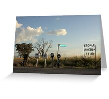 Rural Mail Boxes Greeting Card