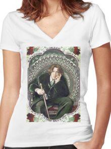 Oscar Wilde 2 Women's Fitted V-Neck T-Shirt