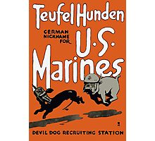 Devil Dog Recruiting Station - WW1 Marine Corps Photographic Print
