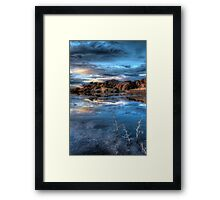 Crystal Blue Framed Print