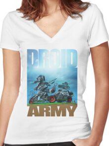 All terrain technical mech Women's Fitted V-Neck T-Shirt
