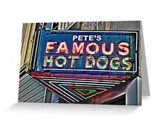 Pete's Famous Hot Dogs, Birmingham, Alabama Greeting Card