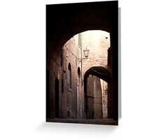 Backstreet in Siena Greeting Card