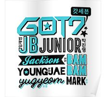 GOT7 Collage Poster