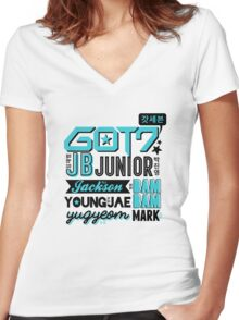 GOT7 Collage Women's Fitted V-Neck T-Shirt