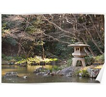 Japanese garden in winter Poster
