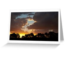 Sunset at Good Forest NSW Greeting Card