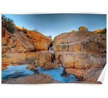 The Red Earth - Mannum Falls, Murraylands, South Australia Poster