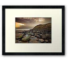 St Bees Rocks Framed Print
