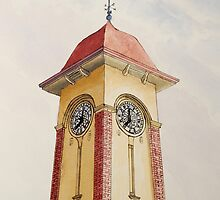 Clocktower of the Sandgate Townhall by Werner Langer
