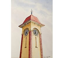 Clocktower of the Sandgate Townhall Photographic Print