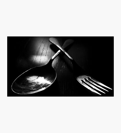 Fork and Spoon Photographic Print