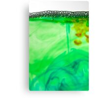 Bubbles on coloured water Canvas Print