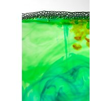 Bubbles on coloured water Photographic Print