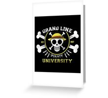 Grand Line University Greeting Card
