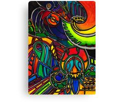 Colorful shapes - a joyful illustration/watercolour Canvas Print