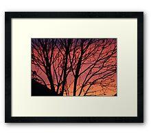 RED SUNSET  SKY Framed Print