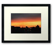 ORANGE SKY AT NIGHT  Framed Print