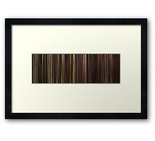 Moviebarcode: The Godfather Trilogy (1972-1990) Framed Print