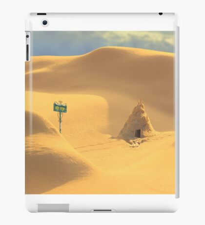 Desert hut iPad Case/Skin