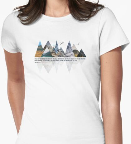 MOVING MOUNTAINS Womens Fitted T-Shirt