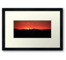 Sunrise over the  Smoky Mountains Framed Print