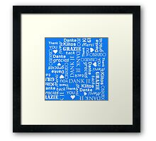 Thank You in Lots of Different European Languages Framed Print