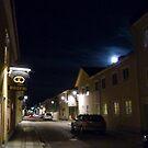 Full Moon above the Queen Street of Alingsås by HELUA