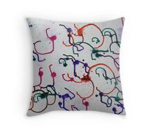 Splat - ink with acrylic Throw Pillow