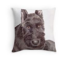 Max, a Schnauzer Puppy Throw Pillow