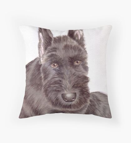 Max, a Schnauzer Puppy Throw Pillow
