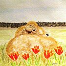 Resting in the Tulips by AngieDavies