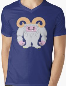 White toothy yeti Mens V-Neck T-Shirt