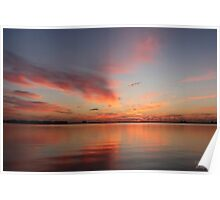 sunrise from the manatee center, ft pierce , fl Poster