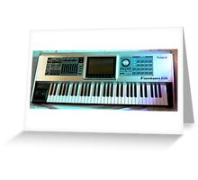 Roland Keyboard Greeting Card