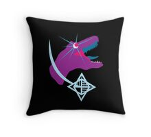 T-Rex Burst Throw Pillow
