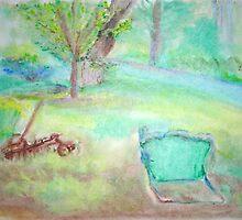 Grandpa's Backyard by Helena Bebirian