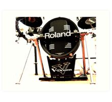 Roland V Base Drum Art Print