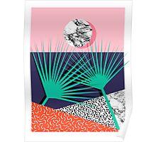 Head Rush - palm springs throwback desert sunrise neon 80s style vintage fresh home decor hipster college Poster
