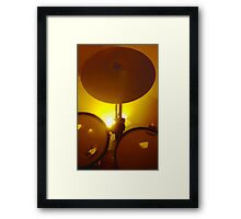 Yellow Light And Symbol Framed Print