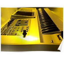 Roland Keyboard With Yellow Light Poster