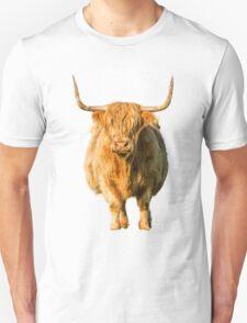 Shaggy Highland Cow Unisex T-Shirt