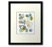 Jamm - abstract art painting brushstrokes modern minimal paint trendy colors hipster gender neutral  Framed Print